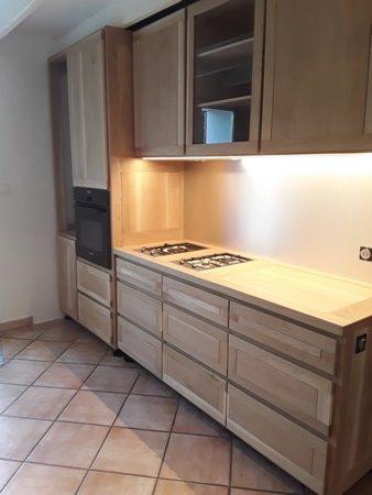 Module cuisson (2 dominos et un four)  d'une cuisine à deux modules