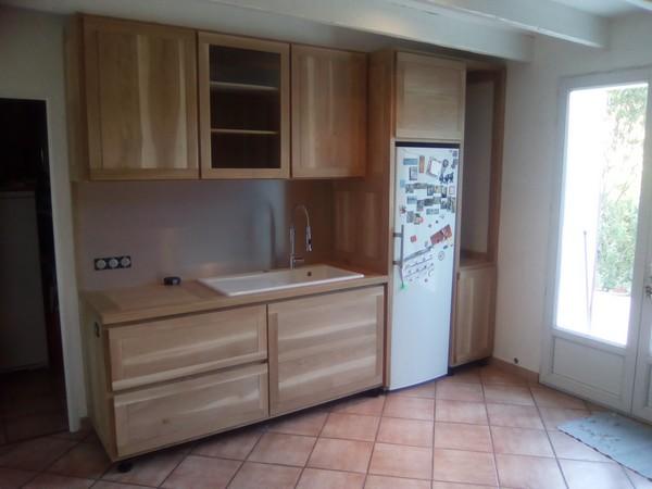 Module eau et frigo  d'une cuisine à deux modules