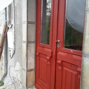 Ajourement de porte d'entrée ancienne
